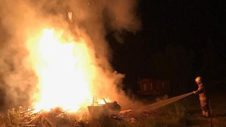 Firefighters were called to an out of control blaze on Monday night, the second incident this week.