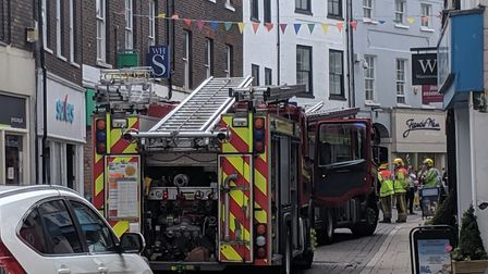 Fire crews were called to Norfolk Street in King's Lynn. Picture: Marc Betts