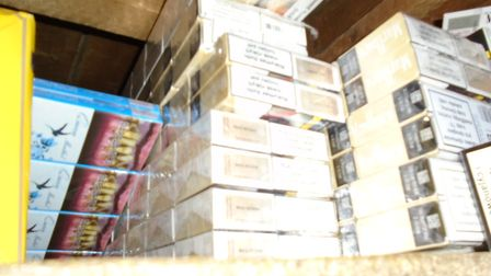 The illegal tobacco was fuond hidden in the ceiling. Picture: Norfolk Trading Standards
