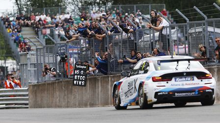 Reigning British Touring Car Championship title holder and current leader Colin Turkington clocking