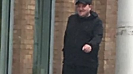 Police are looking to talk to this man, who is believed to be with the first man at the time of the