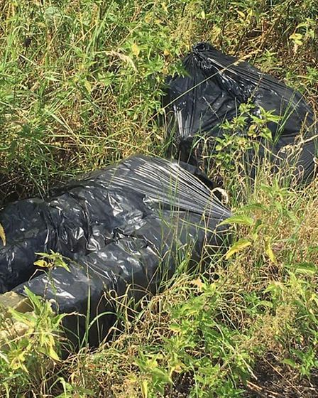 Rubbish dumped at the aerodrome off Bewell Road in Downham Market. Picture: Frances Rayner