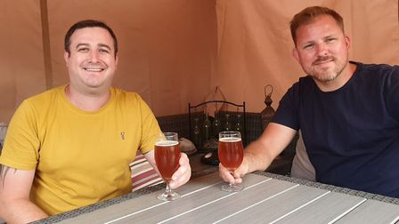 Sam Riseborough (right) and Adam Huxtable(left) created Beccles Brew Co. Picture: Contributed by Sam