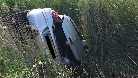 The driver sustained no visible injuries. Picture: Joseph Norton