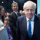 Boris Johnson at the Queen Elizabeth II Centre in London where he was announced as the new Conservat