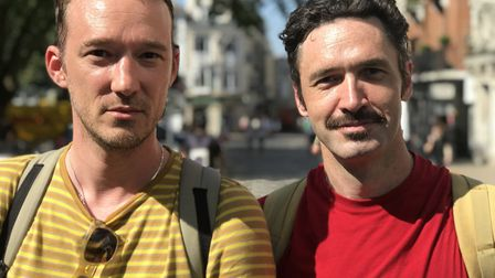 Miko Laiberg, 42 and Edward Peacock, 47 from London think Boris Johnson may have a short tenure as P