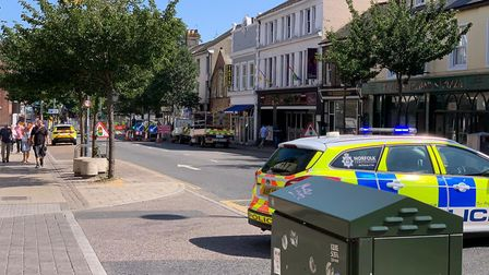 Emergency services called to fire in Prince of Wales Road Credit: James Randle