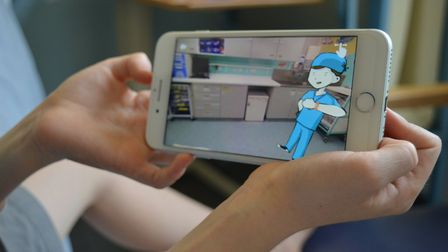The Little Journey app is now availble to donwload for free. Photo: NNUH