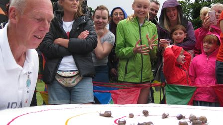 The Snail Racing Championship has taken place in Congham. Picture: Mark Scase