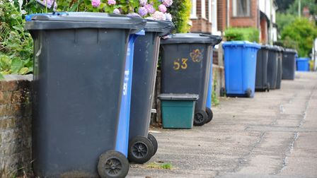Not one fine has been issued for people who have left their wheelie bins out for too long. Pic: Simo