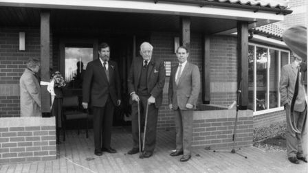 The opening of tuckswood surgery by, from l to r Dr Rutter, Dr Money and Dr Welsh in 1989.photo - su