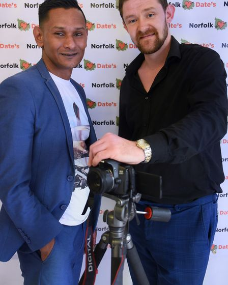 Mo Ali, left, and Steven Ashcroft, directors at NCS Productions, who are auditioning for Norfolk sin