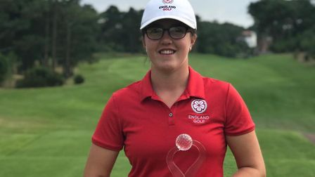 Royal Cromer's Amelia Williamson is all smiles after her victory in France Picture: FAMILY