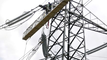 Hundreds of homes in north Norfolk have been left without power after a high voltage line fault. Pho