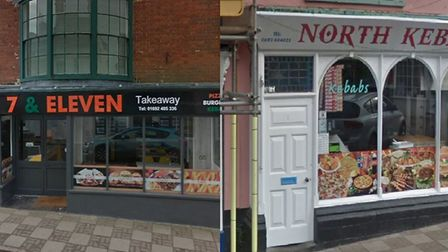 Two North Walsham take-aways are locked in a bitter dispute over changes made to one of the building