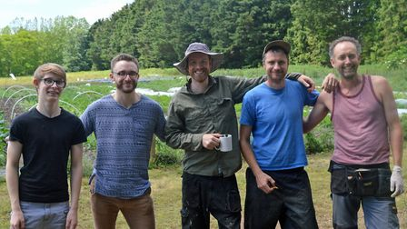 Norwich FarmShare is celebrating the first full season at its new site in Trowse. From left: Volunte