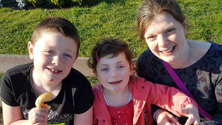 Chrissy Mottershead with son Philip and daughter Olivia, from Hethersett. Chrissy and her husband Ph