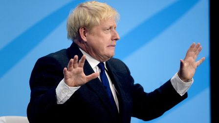 Conservative Party leadership candidate Boris Johnson during a Tory leadership hustings in London.