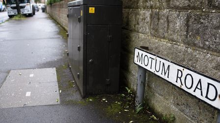 Motum Road where the disturbance took place on Sunday. Picture: DENISE BRADLEY