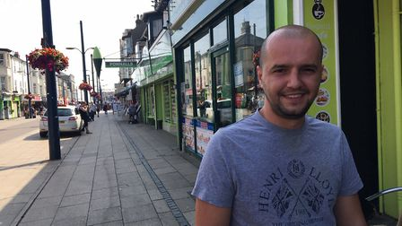 Dennis Kalaveri, 27, said Great Yarmouth offered plenty of things to do for families. Picture: Archa