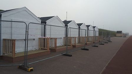 Just four beach huts in Gorleston have been sold since October last year. Picture: Robin Knight.