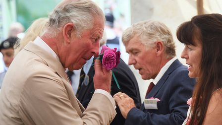 Prince Charles and the Duchess of Cornwall at the Sandringham Flower Show. Picture: DENISE BRADLEY