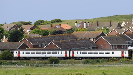 A Greater Anglia Train travelling the Bittern Line into Sheringham. Picture: MARK BULLIMORE