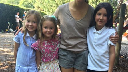 Malissa Rayfield with children Betty, Rose and Daisy. Betty and Daisy attend Avenue Junior School in