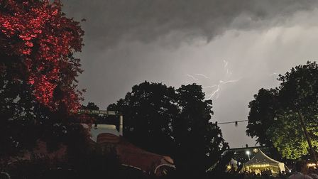 Laugh in the Park in Chapelfield Gardens has been shut down due to an electrical storm. Photo: James