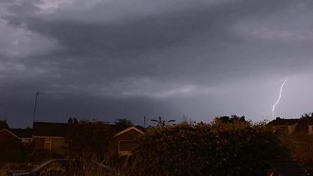 A thunder and lightning storm hit Norfolk this evening. Photo: Georgie Futter
