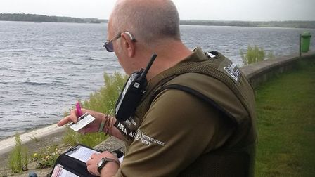 An Environment Agency Officer. PIC: Environment Agency Twitter.