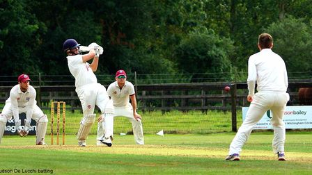 Hudson de Lucchi in full flight for Great Witchingham Picture: TIM FERLEY