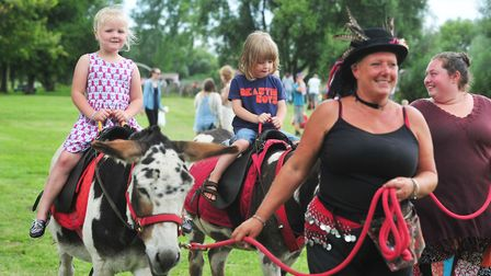 Donkey rides at the Beccles Harvest Moon festival 2016PHOTO: Nick Butcher