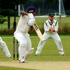 Norfolk skipper Ashley Watson on his way to an unbeaten 43 against LIncolnshire Picture: TIM FERLEY
