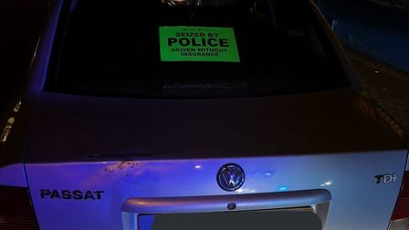 A driver has had their car seized after being caught driving without any insurance or a driving lice