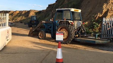 Gates at West Runton beach have been removed. Picture: Helen Evans
