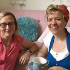 Rachel Forsyth, left, and Lorna Berry, right, are behind Holt's latest community cafe and zero waste