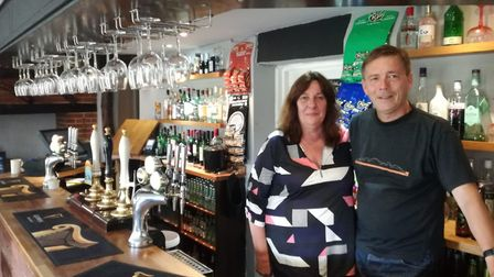 Canary and Linnet leaseholders Marcia and Mark Noble are preparing to welcome football fans to the p