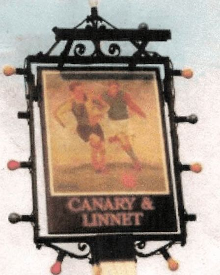 The original sign at the Canary and Linnet. Photo: Mark Noble