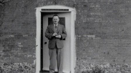 The pub's first licencee John Jurdon standing in its doorway. Photo: Mark Noble