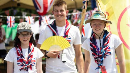 Members of Unit 18 Iceni at the World Scout Jamboree. Picture: Jo Cracknell