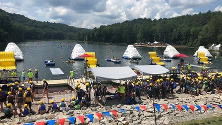 Scouts take part in a whole range of water activities on the lake at the World Scout Jamboree. Pictu