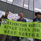 Extinction Rebellion King's Lynn and West Norfolk at Tesco Extra. Picture: Extinction Rebellion King
