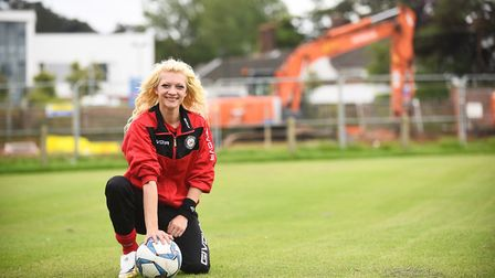 Jenna Bedwell in 2017 when she became chairman of Cromer Town Football Club. Picture: Ian Burt