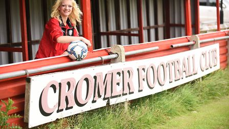 Jenna Bedwell is the chairman of Cromer Town Football Club. Picture: Ian Burt