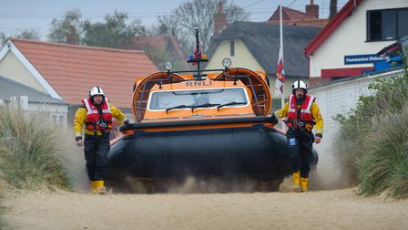 Two people have been rescued after being cut off by the tide at Brancaster. Photo: Clifford Hicks