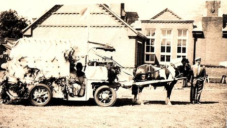Horse and cart used to deliver milk around the village. Picture: Helen Addison