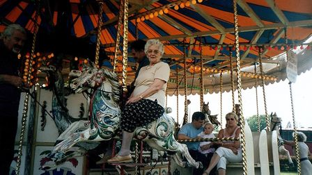 Gwen Dearsley at the fairground two years before she died. Picture: Helen Addison