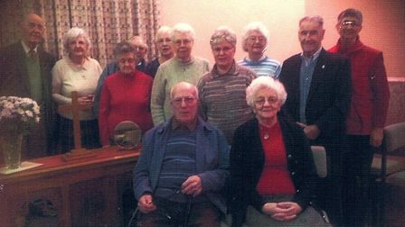 Gwen and Charles Dearsley with members of the Hilgay Methodist Church. Picture: Helen Addison