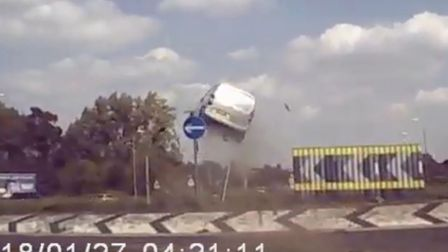 Ryan Lamb has been found guilty of dangerous driving after this dramatic crash on the A11 near Attle